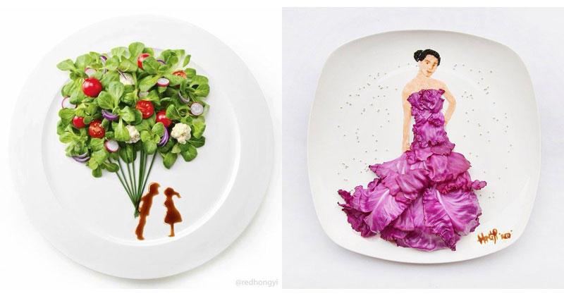 Painting with Food by Red Hong Yi