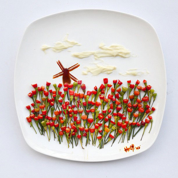 painting with food by red hong yi (3)