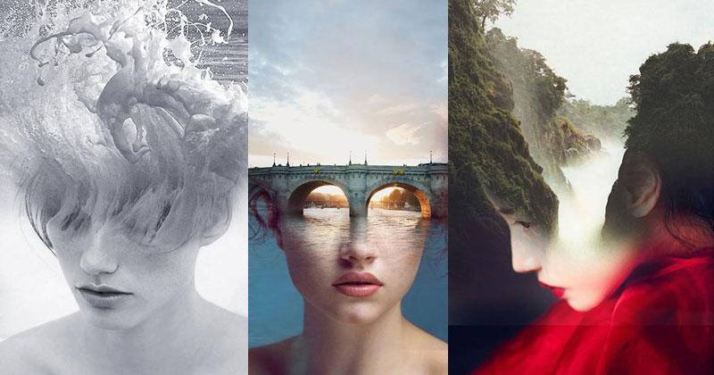 Surreal Portraits Blended Into Landscape Photos