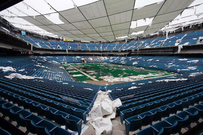 the abandoned silverdome by detroiturbex 5 Stadium in Berlin Gets Turned Into Giant Living Room with 750 Couches and 700 TV