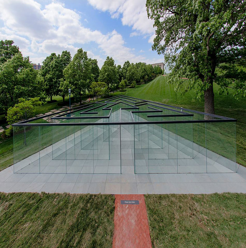 the glass labyrinth by robert morris at the donald j hall sculpture park (1)