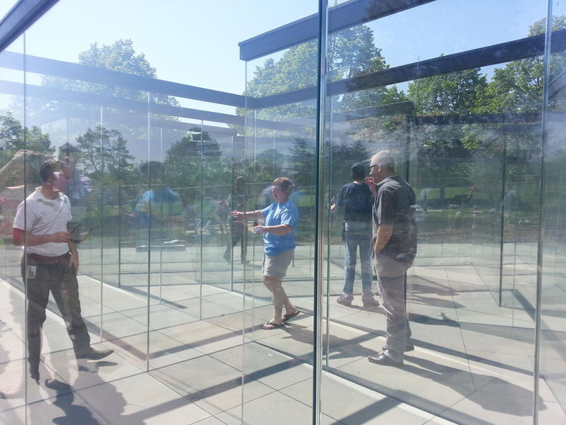 the glass labyrinth by robert morris at the donald j hall sculpture park (2)