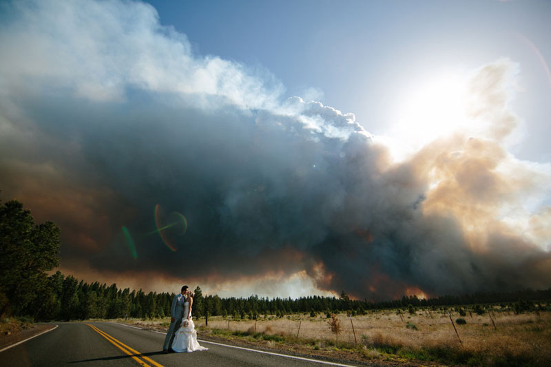 Picture of the Day: Weddings and Wildfire