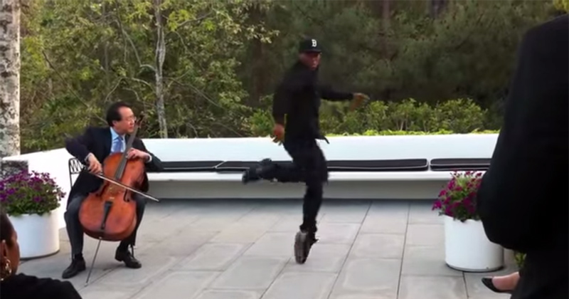 yo yo ma and lil buck spike jonze video celloist and street dancer Light Bending Dance Performance Will Touch Your Soul