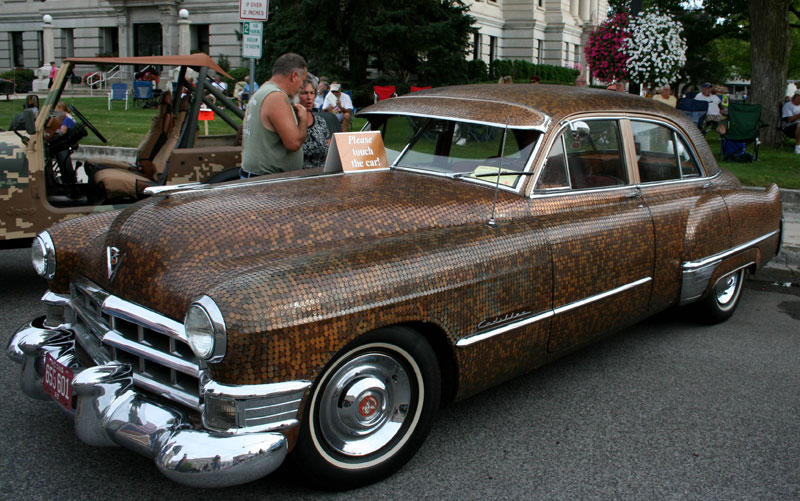 383 DOLLAR penny-paint-job-cadillac-covered-in-pennies