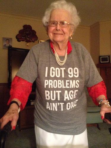 99th Birthday For Grandma Funny Tshirt Grandson Fulfills Promise To Shave Beard Grandmas 100th