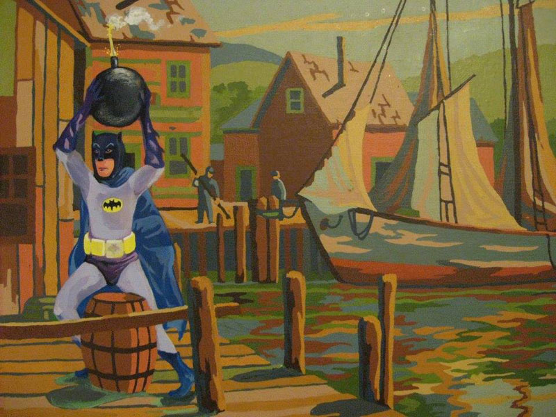 Artist Takes Old Thrift Store Paintings And Adds Pop