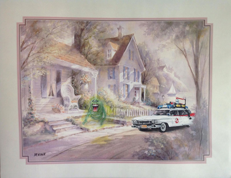 adding characters to thrift store paintings by david irvine gnarled branch (16)