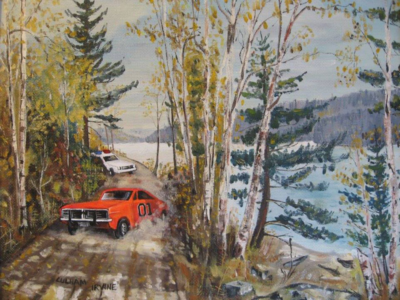 adding characters to thrift store paintings by david irvine gnarled branch (20)