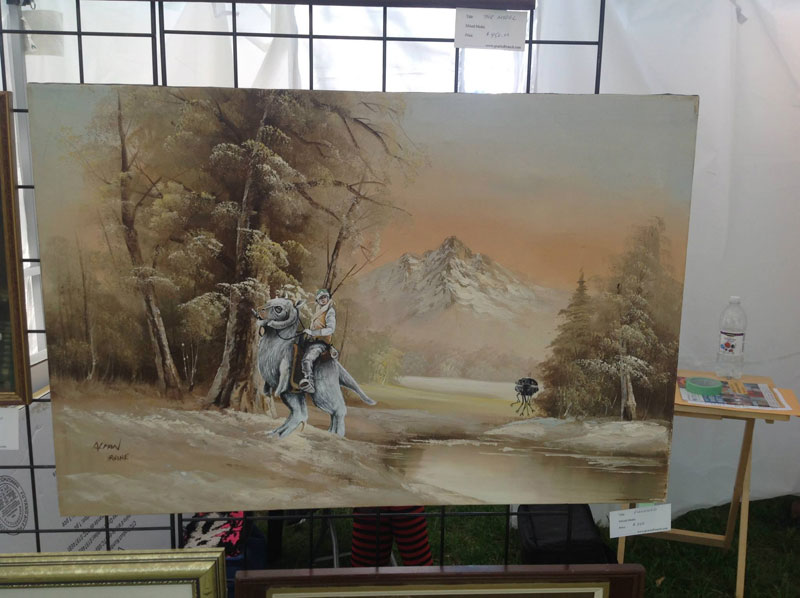 adding characters to thrift store paintings by david irvine gnarled branch (30)