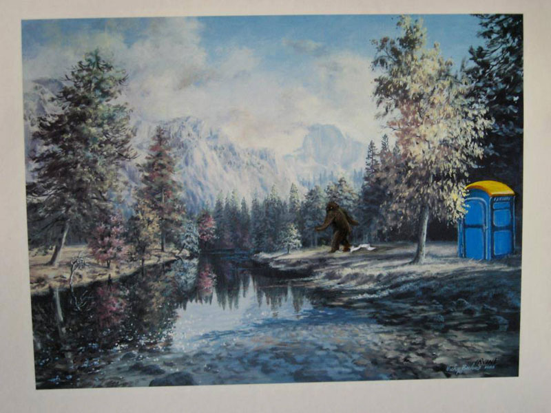 adding characters to thrift store paintings by david irvine gnarled branch (9)