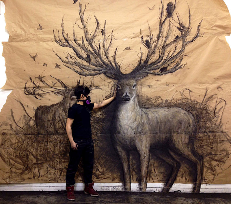 Animal Murals that Seem to Leap Off theWall