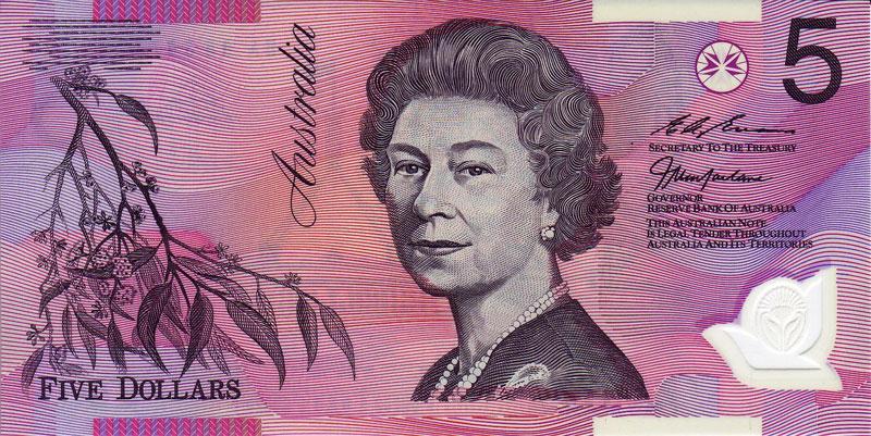 Image result for old australian 5 dollar note