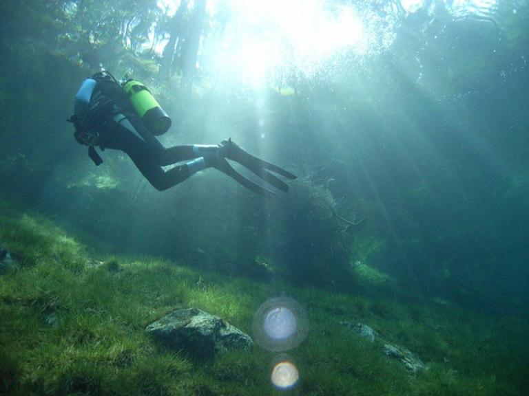 austria-underwater-park-gruner-see-green-lake-styria