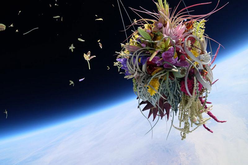 azuma makoto sends flower bouquet into space (2)