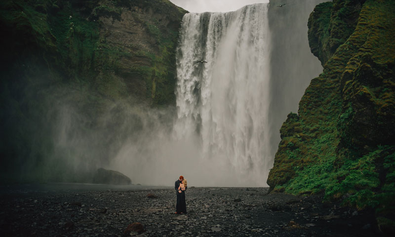 Couple Elopes in Iceland to be Surrounded by Nature
