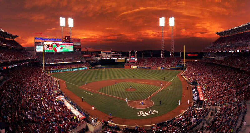 Picture of the Day: Crimson Skies at the Reds Game