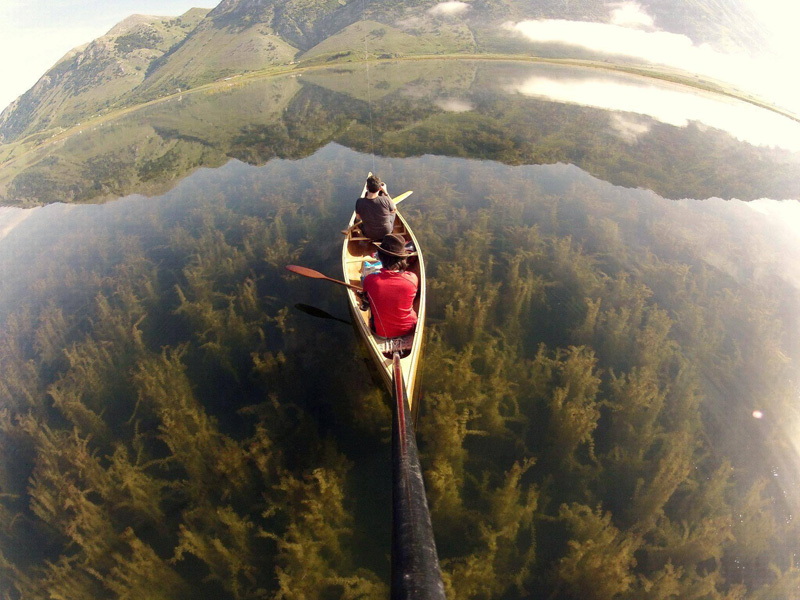 Crystal Clear Lake Canoe Gopro Picture Of The Day Canoeing