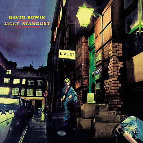 david bowie ziggy stardust Famous Album Covers Superimposed onto their Actual Locations