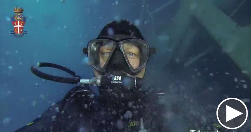 Divers Explore Sunken Cruise Ship CostaConcordia