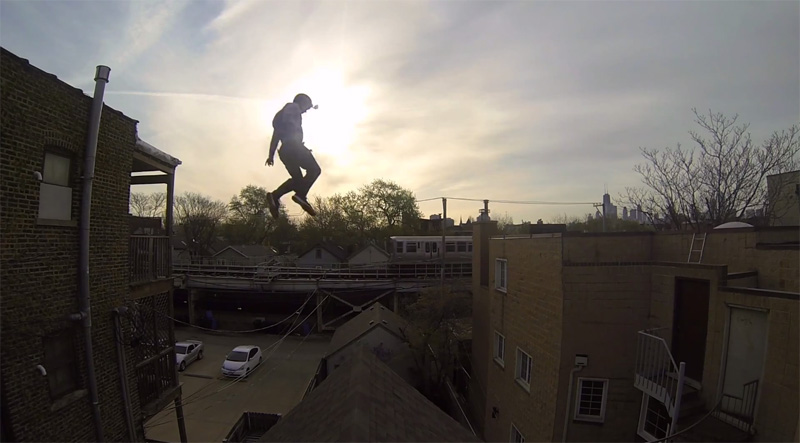 This Guy Jumped from One Roof to Another and Then Took It One StepFurther