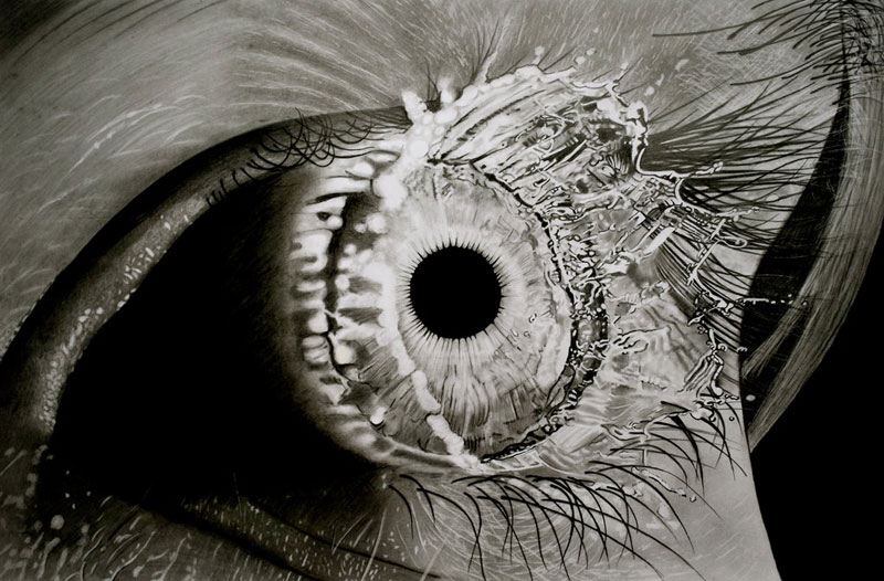 eye splash by paul stowe An Artist Drew These With Just A Pencil