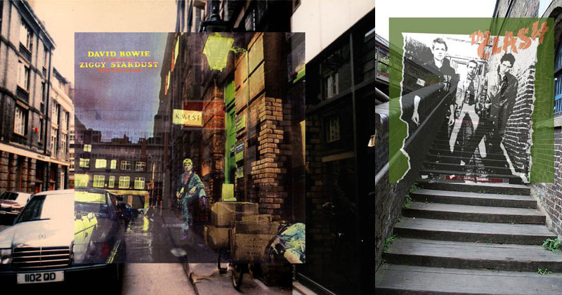 Famous Album Covers Superimposed onto their ActualLocations