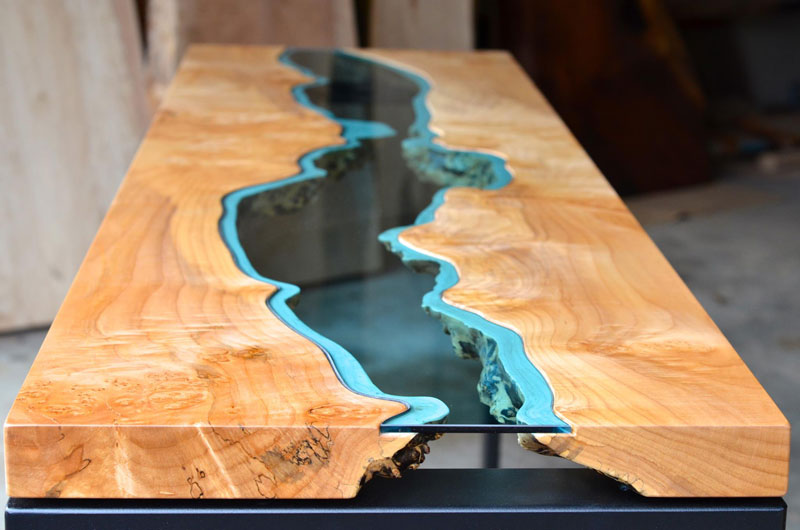 Furniture with Rivers of Glass Running Through Them by Greg Klassen (3)