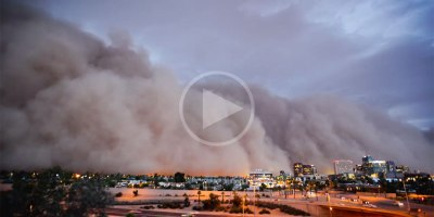 This is What a Massive Oncoming Dust Storm Looks Like