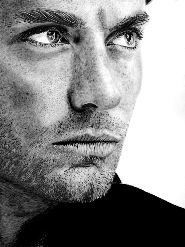 jude law by paul stowe An Artist Drew These With Just A Pencil