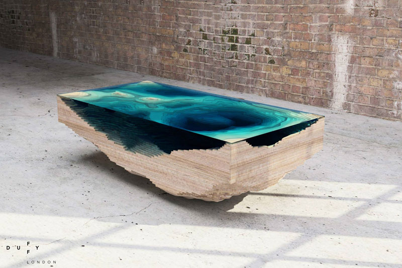 Superieur Layered Glass Coffee Table Shows Depths Of The Oceans By Duffy London (2)