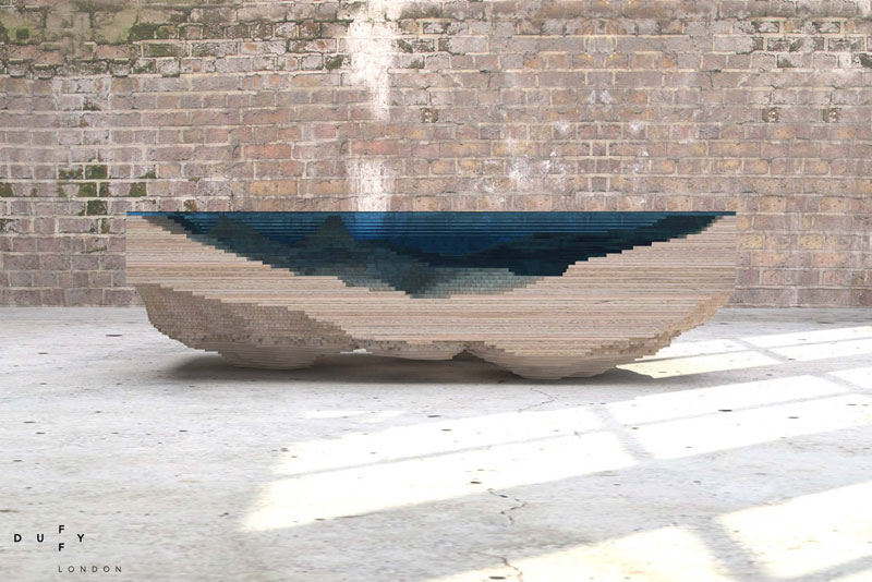 The Depths Of An Ocean Inside A Coffee Table TwistedSifter - Incredible layered glass table mimics oceans depths