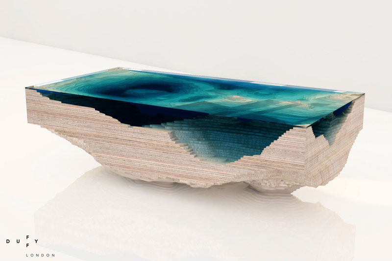 Delightful Layered Glass Coffee Table Shows Depths Of The Oceans By Duffy London (8)