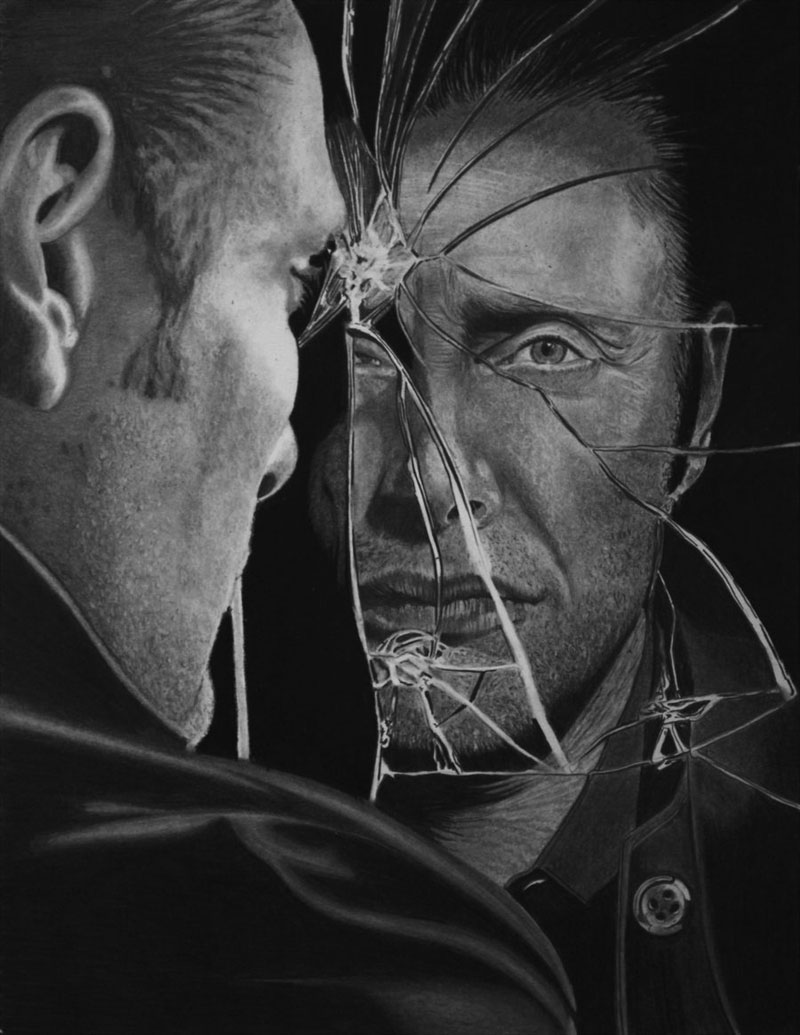 mads mikkelsen  aka hannibal  by paul stowe An Artist Drew These With Just A Pencil