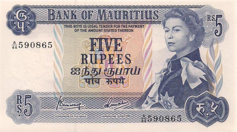 MAURITIUS,-5-RUPEES,-AGE-29