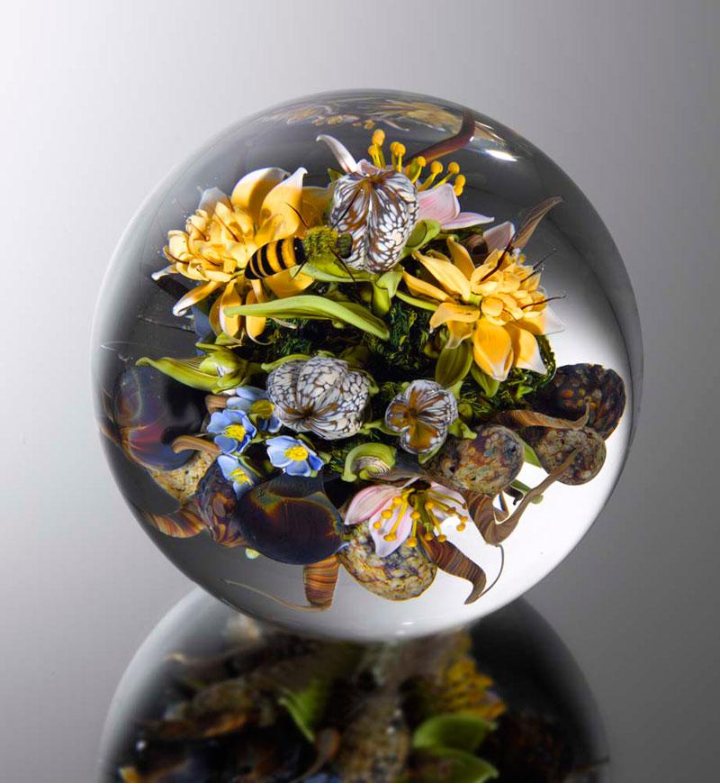 Stunning Miniature Gardens Encased in Clear GlassOrbs