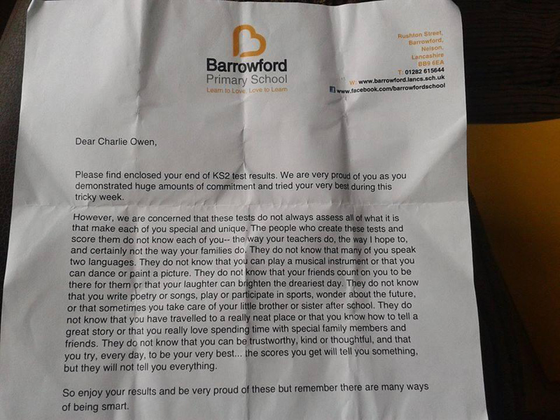 Principal Writes Incredible Letter to Students Regarding Standardized Test Results