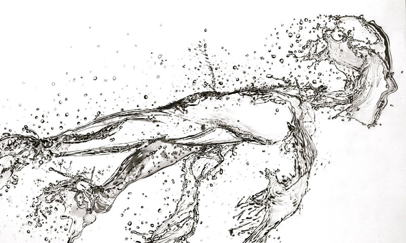 running water  pencil  by paul stowe An Artist Drew These With Just A Pencil