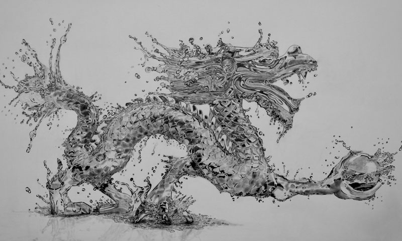 water dragon  pencil  by paul stowe An Artist Drew These With Just A Pencil