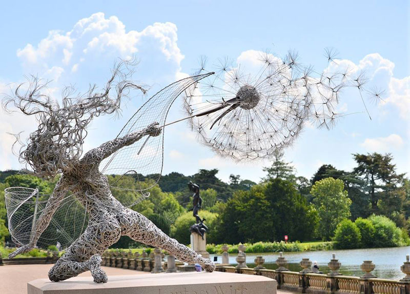 wire fairy sculptures by robin wight 12 Artist Transforms Old Steel Bolts Into Evocative Sculptures