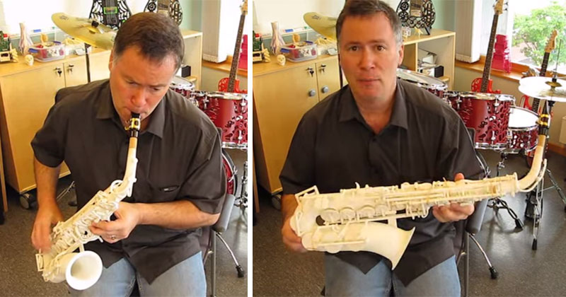 This is What a 3D Printed Saxophone Sounds Like