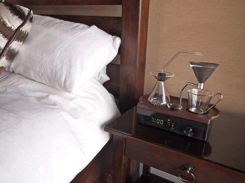 An Alarm Clock That Wakes You Up with a Fresh Cup of Coffee