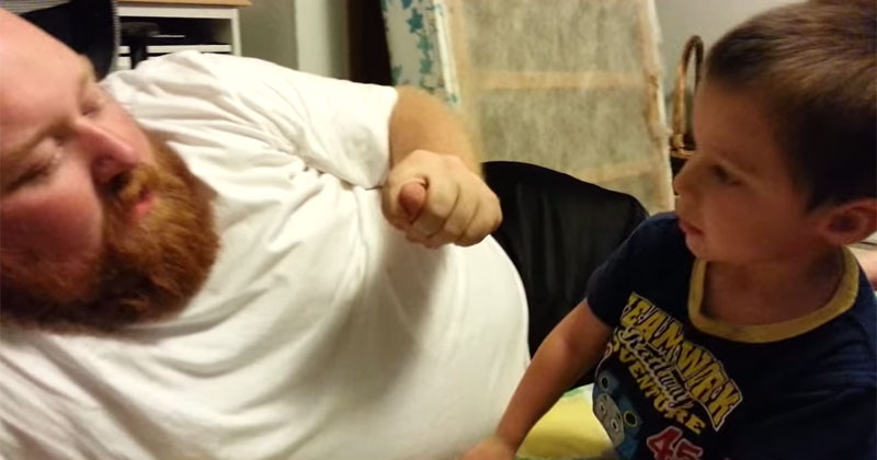 Little Kid is Crushed When Dad Takes HisEar