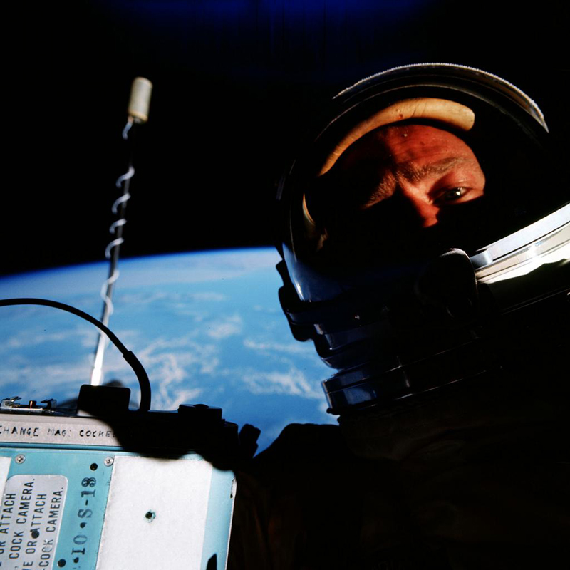 first selfie in space buzz aldrin Picture of the Day: The First Space Selfie, 1966