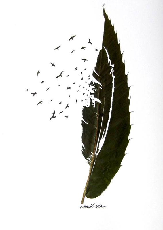 leaf cut art by omad asadi (13)
