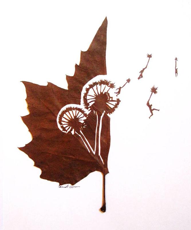 leaf cut art by omad asadi (3)