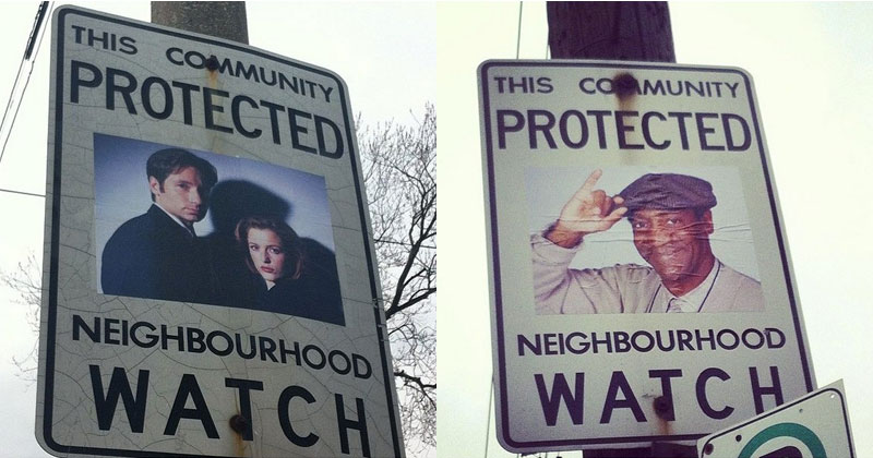 Adding Superheroes and Crime Fighters to Neighborhood WatchSigns