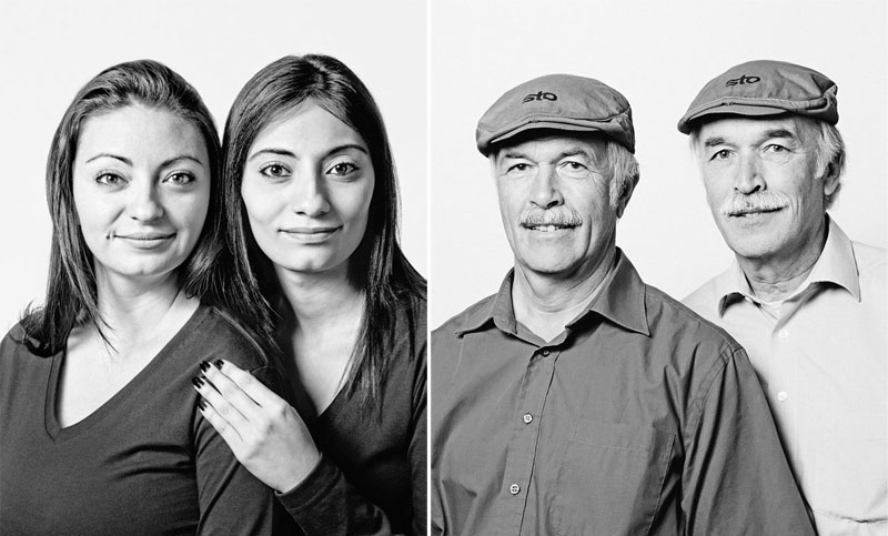 15 Portraits of Unrelated Doppelgangers