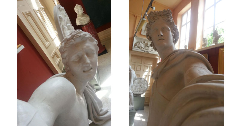 This Guy Set Up His Camera To Make it Look Like Statues TakingSelfies