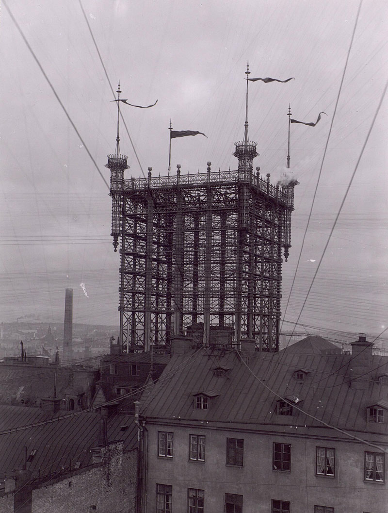 stockholm telephone tower 1887 - 1913 over 5000 telephone lines connected (5)